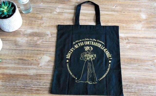Gagnez votre Tote Bag Noir & Doré édition limitée La Mariée en Colère