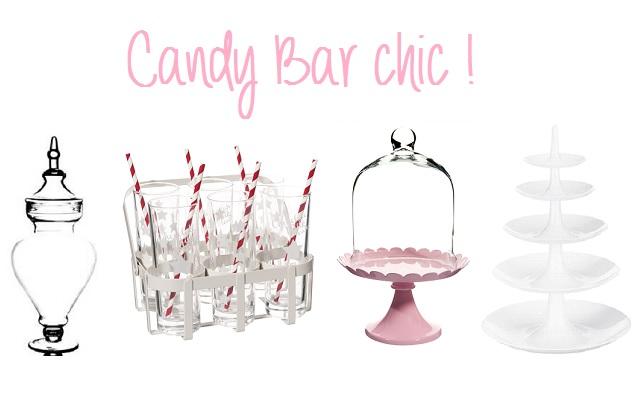 Shopping mariage : tout pour décorer son candy bar !