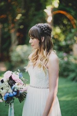 5 coiffures originales avec des tresses couronne de tresse demi queue