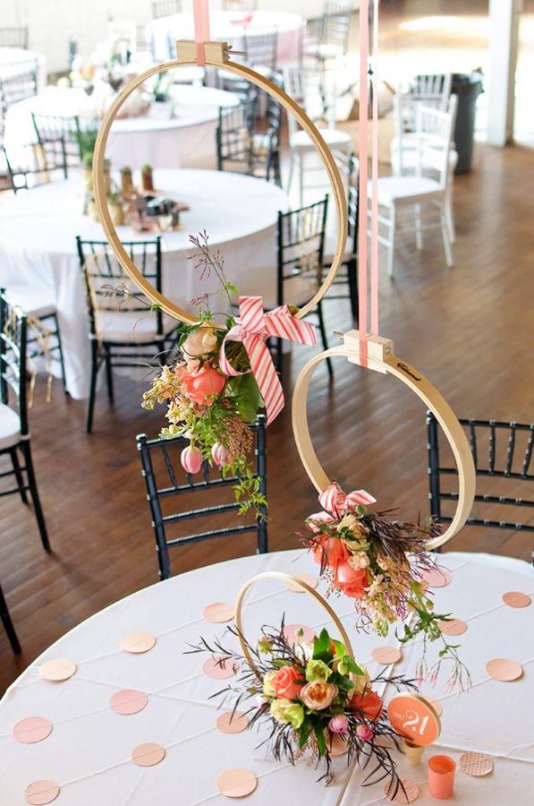 3 idées originales à suspendre au-dessus de vos tables de mariage