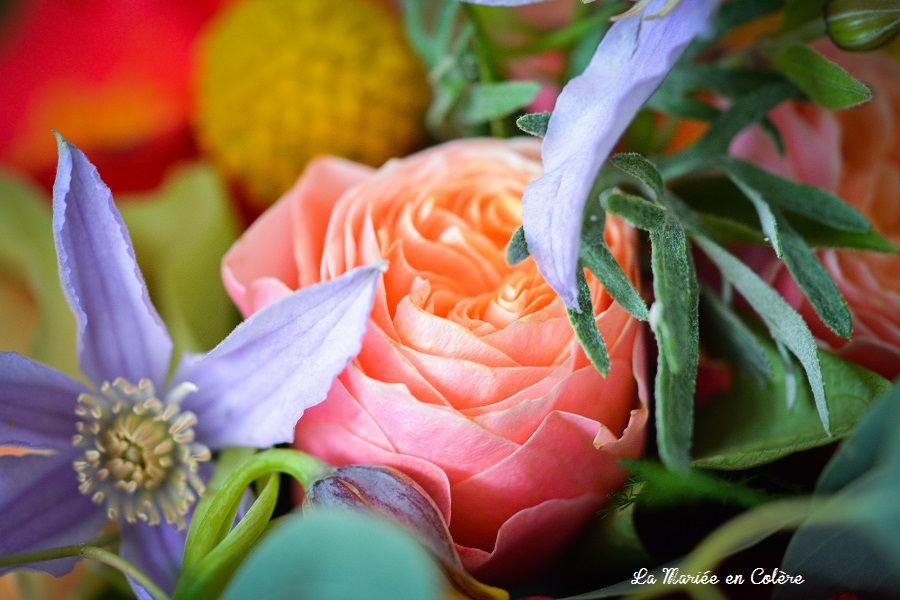 bouquet mariage coloré