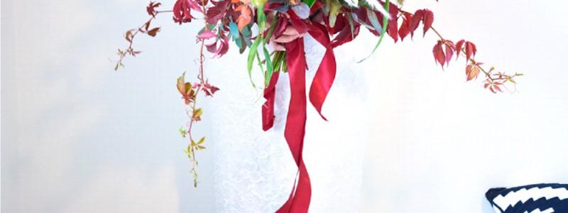 {Bouquet de mariée} Octobre Rouge
