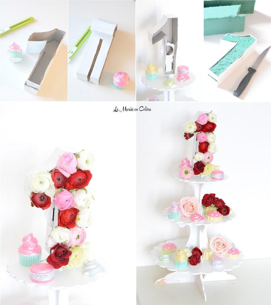 centre de table gourmand fleurs