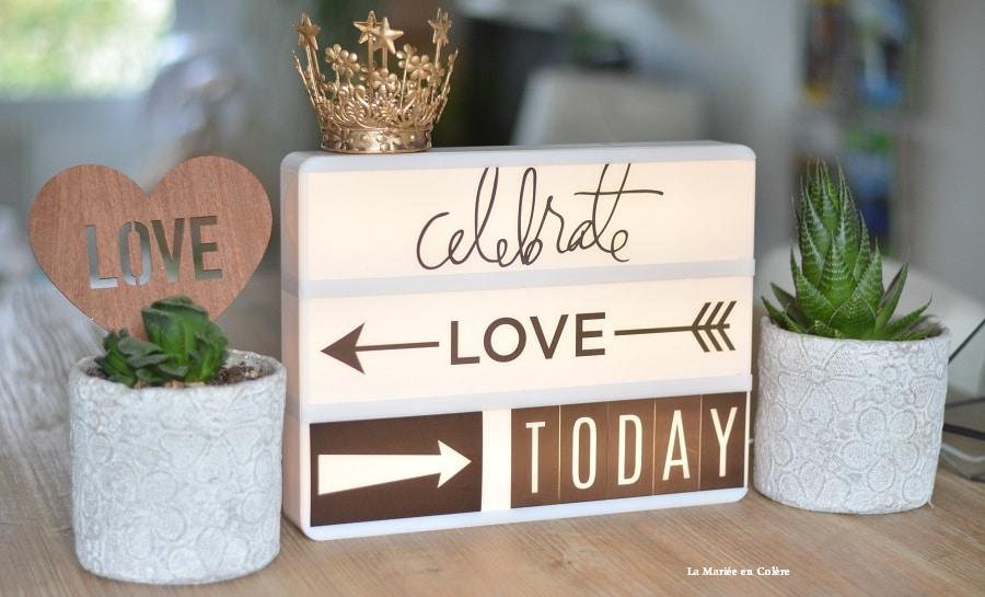 lightbox mariage