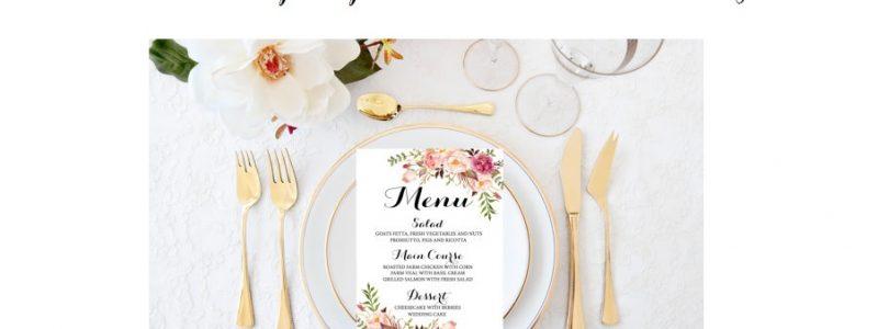 menus de mariage