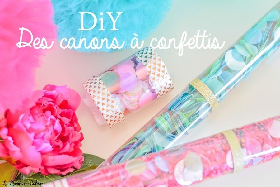 DIY canons confettis