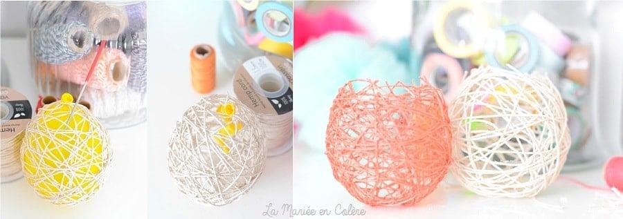 DIY tuto boules ficelles ballons