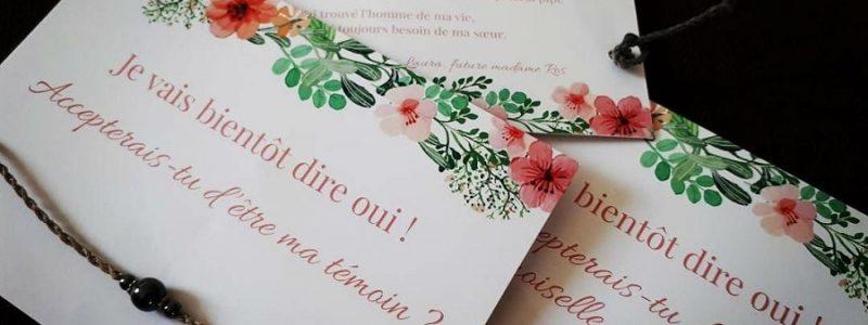 {Témoignages} 10 idées originales pour faire votre demande à vos témoins de mariage