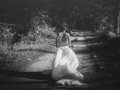 robe de mariée faîte main