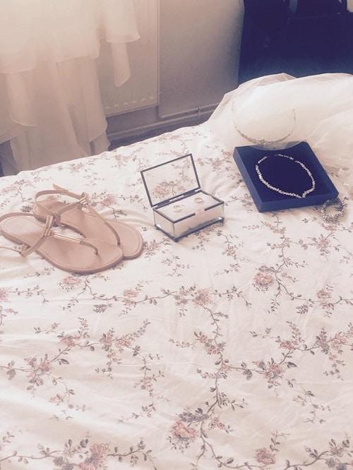 tongs chaussures mariée