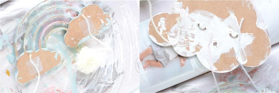 DIY déco nuages arc en ciel chambre bébé