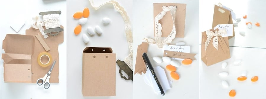 boîte dragées carton recyclé