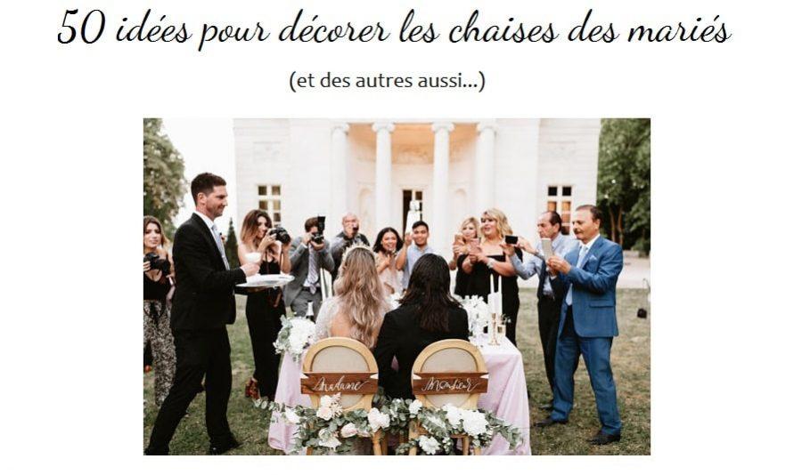 décoration chaises mariage