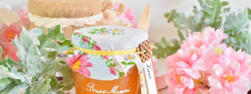 DIY : Customisez des pots de confiture pour les offrir à vos invités de mariage et baptême