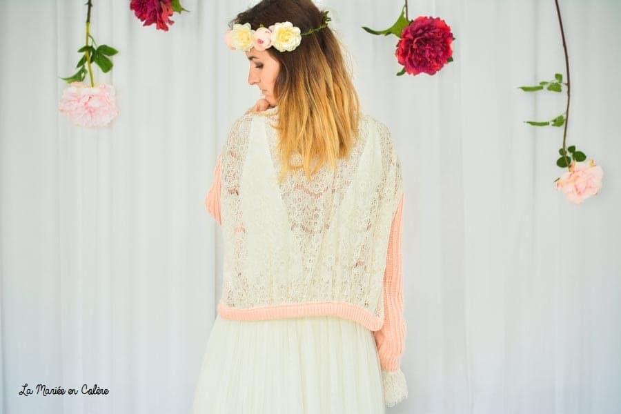 veste dentelle mariée