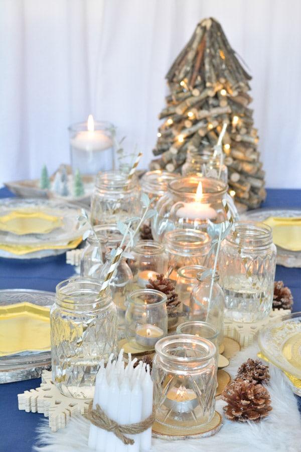 17 idée décoration table noel chic