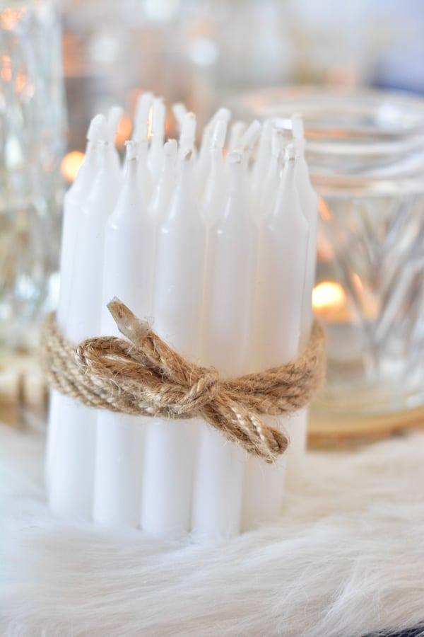 3 diy lot bougies noel