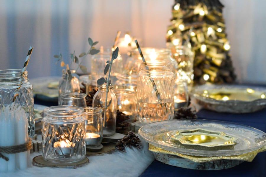 31 ma table de noel doré bleu