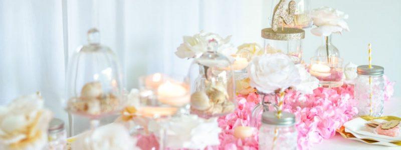 Déco de table : Une ambiance ultra girly en rose et doré