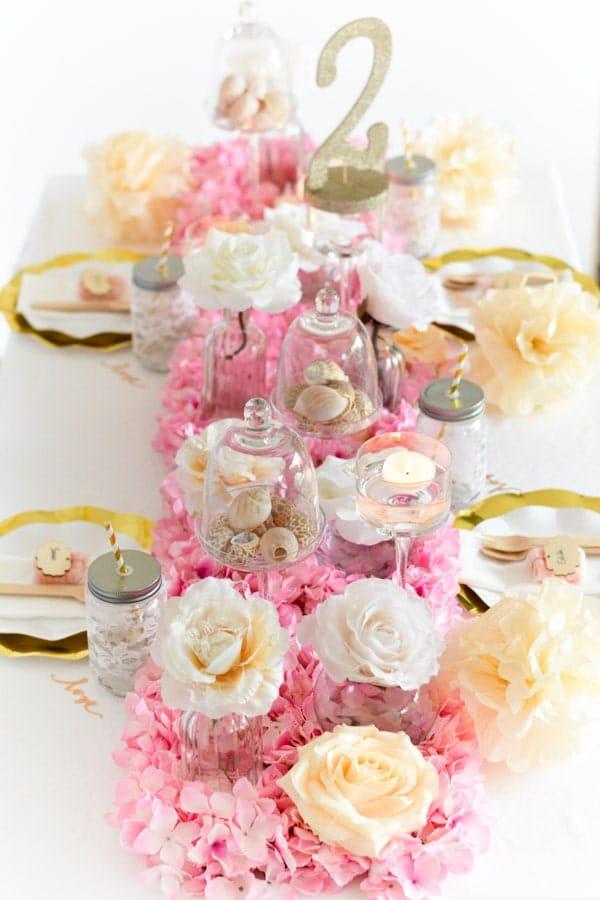 décoration table originale enterrement vie de jeune fille-min