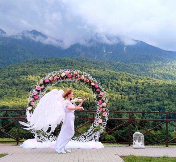 arche mariage romantique