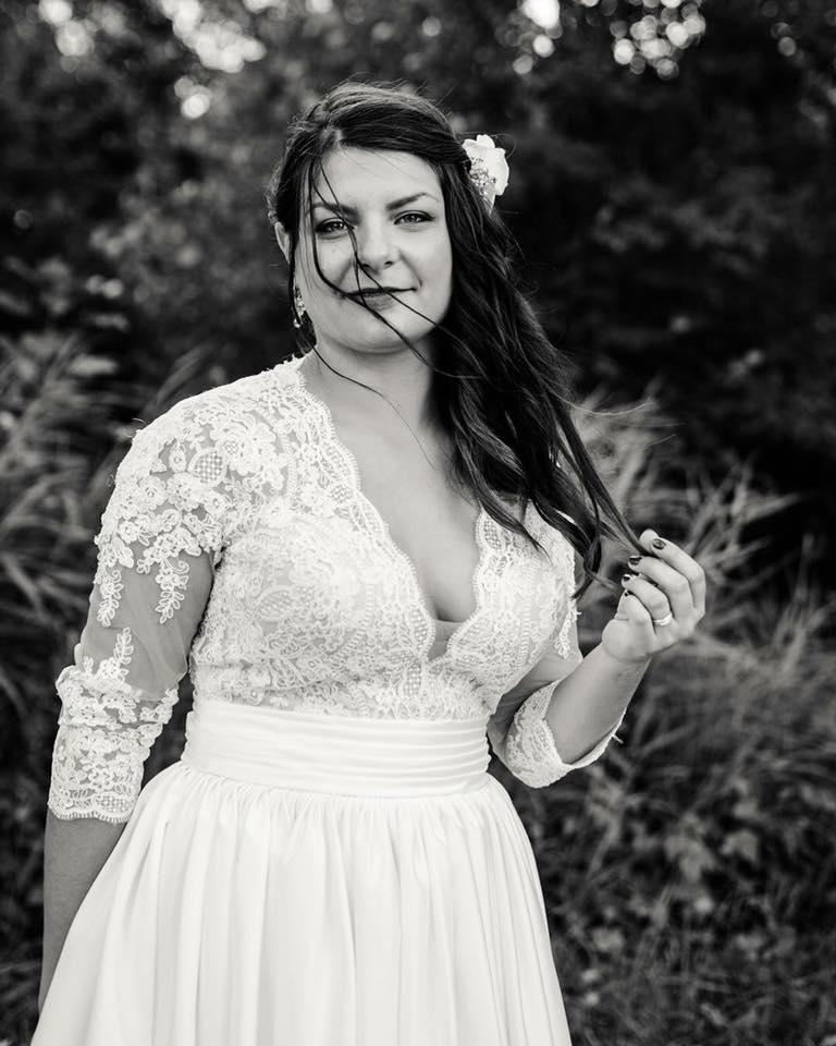 robe de mariée haut dentelle calais