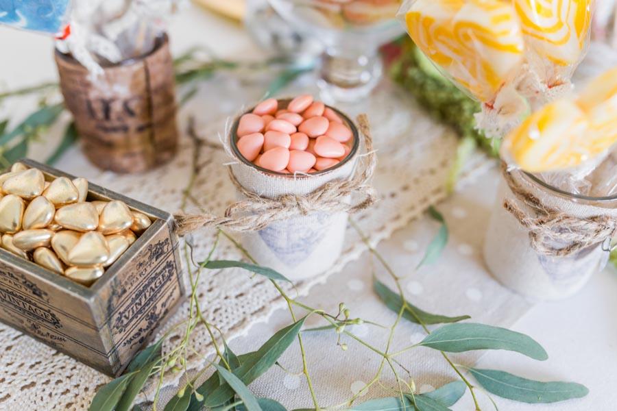 décoration table mariage thème gourmandise candy-bar