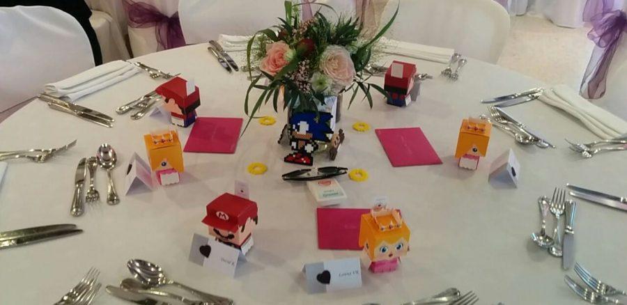 décoration thème mariage jeux vidéo