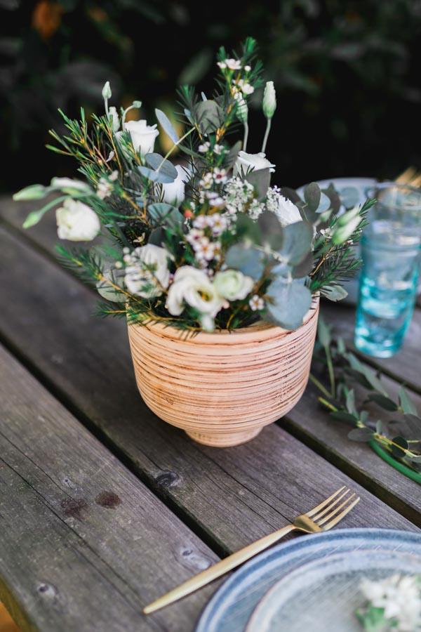 vase bois manguier nature