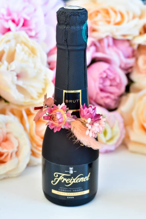 petite bouteille champagne mariage