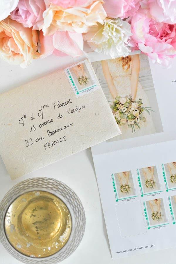 timbre personnalisés mariage