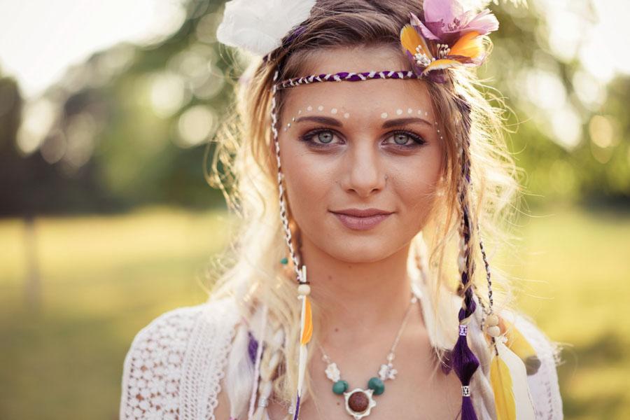 maquillage mariée hippie