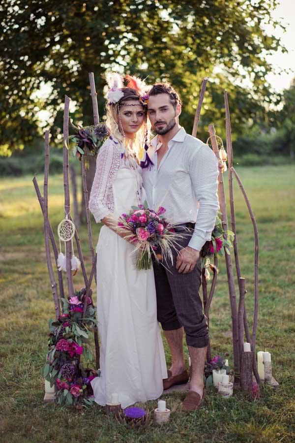 mariage hippie