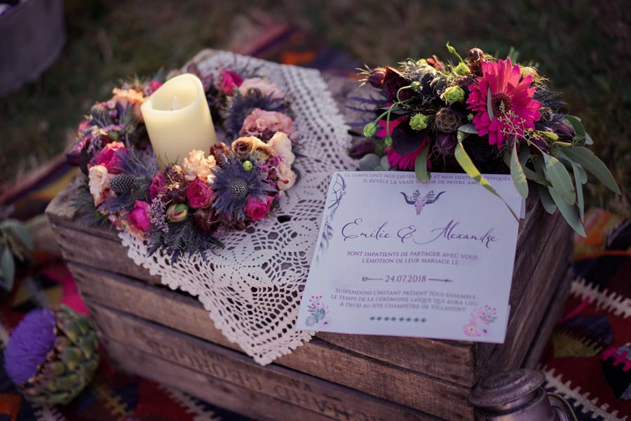 papeterie mariage hippie