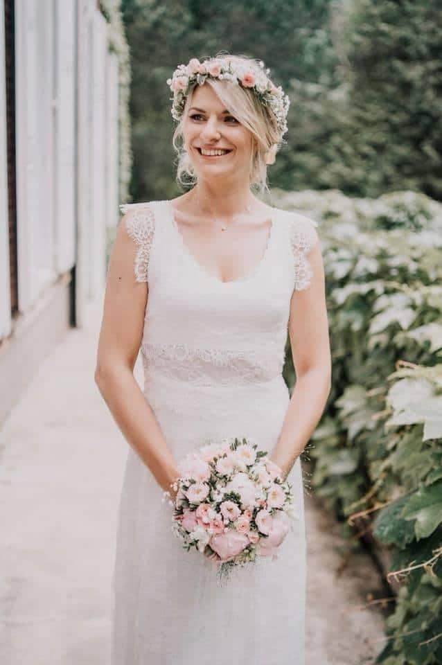 couronne fleurs coiffure mariée