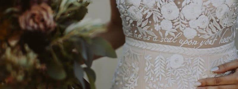 [Tendance Mode} La robe de mariée brodée et personnalisée