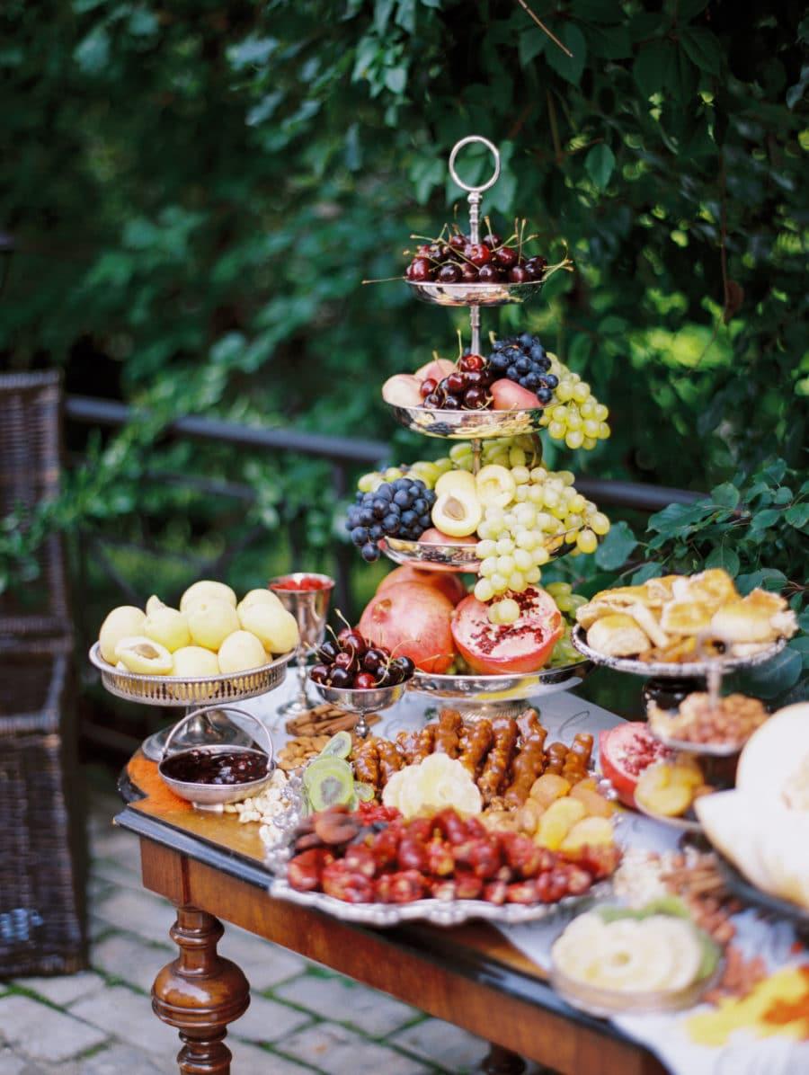 buffet mariage présentation idée