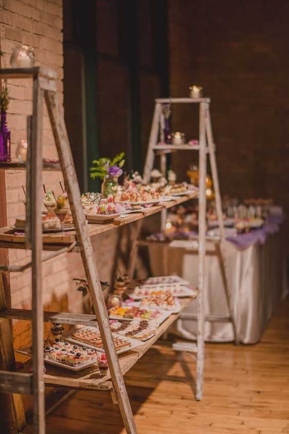buffet tréteaux mariage