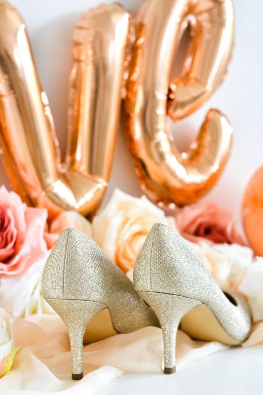 escarpins paillettes mariée